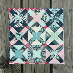 Mini quilt by Michelle Bartholomew, original design.  Pat Bravo mini quilt challenge May 2016.