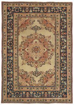 HADJI JALLILI (Haji Jalili) TABRIZ, Northwest Persian 4ft 0in x 5ft 8in Circa 1875 http://www.claremontrug.com/antique-oriental-rugs-carpets/