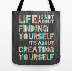 Quote 'Create Yourself', Art Print by Jacqueline Maldonado Words Quotes, Me Quotes, Motivational Quotes, Inspirational Quotes, Crush Quotes, Life Quotes Love, Great Quotes, Quotes To Live By, Quote Life