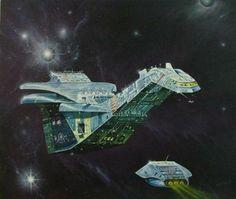 Bildergebnis für spacecraft 2000 to 2100 ad stewart cowley Space Fantasy, Sci Fi Fantasy, Sci Fi Kunst, Science Fiction Kunst, Perry Rhodan, Sci Fi Spaceships, Trippy, 70s Sci Fi Art, Spaceship Art