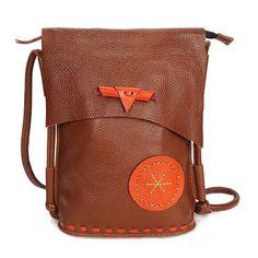 Sale 15% (69.67$) - Ekphero Women Genuine Leather Cowhide Casual Large Capacity Shoulder Bag Crossbody Bag