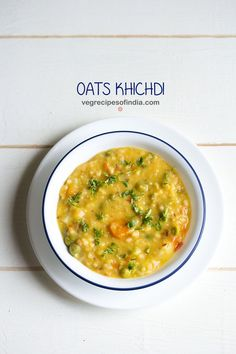oats khichdi recipe with step by step photos - healthy and delicious one pot oats khichdi made with oats, mix vegetable and moong dal.    one of the ways i include oats in our diet is by