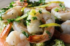 Easy shrimp with Gremolata dressing combines roasted shrimp with a simple dressing of parsley, lemon, garlic and olive oil that bursts with flavor. Best Appetizer Recipes, Best Appetizers, Main Dishes, Side Dishes, Roasted Shrimp, 30 Minute Meals, Just Cooking, Tapas, Vegetarian Recipes