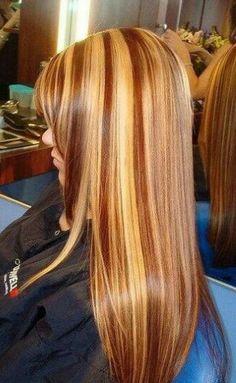 Blonde/auburn hair