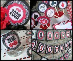 """Idea for Jenn's potential """"Vegas Style Bachelorette Party"""" decorations"""