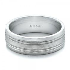 Men's Engraved and Brushed Wedding Band - Kirk Kara | Joseph Jewelry Seattle Bellevue