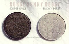 rouge bunny rouge snowy egret, eclipse eagle Eye Shadow, Color Show, Brown And Grey, Swatch, Singing, Eagle, Bunny, Vanity, Lovers