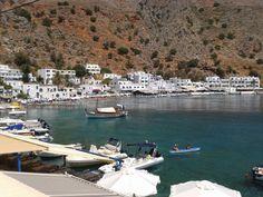 Loutro village in southwestern Crete