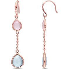 Amour Sterling Silver Dangle Earrings | Bluefly.Com ($58) ❤ liked on Polyvore featuring jewelry, earrings, pink, sterling silver earrings, pink earrings, sterling silver jewellery, sterling silver jewelry and sterling silver fish hook earrings
