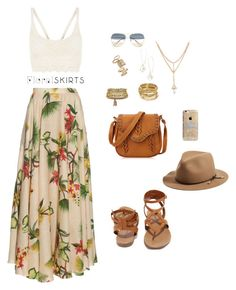 """""""Here Comes The Sun :)"""" by xcelestex on Polyvore featuring Isolda, Isabel Marant, Topshop, New Look, ABS by Allen Schwartz, Kendra Scott, Breckelle's, rag & bone, Agent 18 and Floralskirts"""