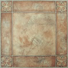 This is Spanish Rose pattern.  Each peel & stick floor tile is one square foot (12″ x 12″), 1.2mm thick and there are 20 square feet per box.  Box weight is 10 pounds.