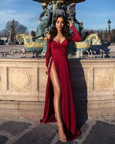 Off shoulder prom dress,red long evening dress,party dress with high split Evening Dresses Long, Prom Dresses Red, Prom Dress Prom Dresses 2019 Prom Dresses Long With Sleeves, Elegant Prom Dresses, Sexy Dresses, Cute Dresses, Long Sleeve Formal Dress, Long Dresses, Sleeved Prom Dress, Prom Dress Long, Red Long Sleeve Gown