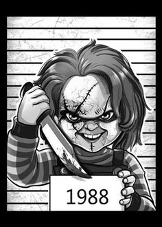"""Want a metal print copy?: Visit Artist Store Description: Horror Movies Prison Chucky Child's Play artwork by artist """"Alessio Magliano& Horror Movies Funny, Horror Movie Characters, Scary Movies, Movies Wallpaper, Scary Wallpaper, Horror Posters, Horror Icons, Art Posters, Chucky Drawing"""