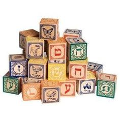 Hanukkah gift ideas for young children. I love these blocks. Good for little ones for building and stacking; good for Hebrew letter recognition for older kids.  #hanukkah gifts