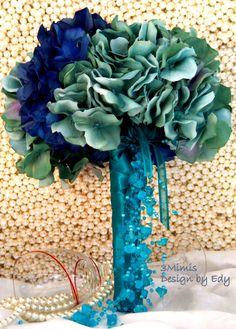 Bridal Bouquet to match a tiffany blue wedding via Etsy. #tiffanyblue #wedding