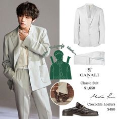Korean Fashion Men, Kpop Fashion, Mens Fashion, Taehyung Gucci, V Taehyung, Bts Clothing, Bts Inspired Outfits, Classic Suit, Cool Outfits