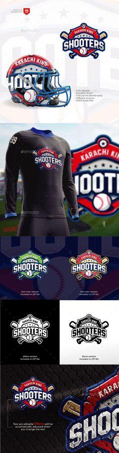 Shooters  Baseball Team Logo — Vector EPS #strike #baseball logo inspiration • Available here ➝ https://graphicriver.net/item/shooters-baseball-team-logo/21057962?ref=pxcr
