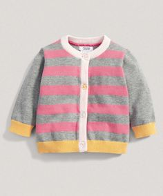 Baby Girl Mix And Match Stripe Cardigan - 3-6 months or 12-18 months