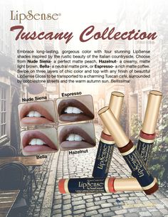Limited-Edition LipSense Tuscany Collection for fall 2016!