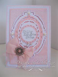Gorgeous card made using Spellbinders dies