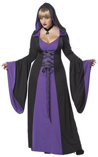 56c9570a61fb Deluxe Purple Hooded Robe Adult Womens Plus Size Costume – Spirit Halloween
