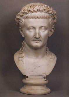 Emperor Tiberius, Roman bust (marble), 1st century AD, (Musée du Louvre, Paris).: