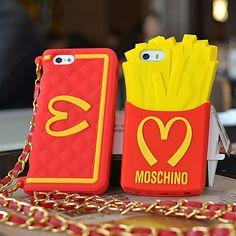 Картофель мороженое Moschino Макдональдс 4/4s силиконовая оболочка iphone5/5S телефон оболочки мобильных телефонных аппаратов сумки - Taobao ...