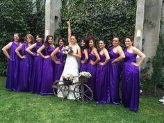 Bridesmaids ♡ #purple #dress #bride #wedding #vintage