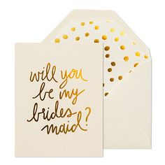 Playful Bridesmaid Card – Paper Luxe