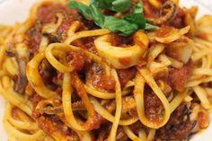 Varomeando: Linguini (tallarines) con calamares