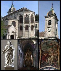 La cathédrale Saint-Jean est une église, basilique et cathédrale carolingienne franc-comtoise avec des parties romanes, gothiques et baroques construite à l'origine dès le IIIe siècle puis reconstruite plusieurs fois et notamment au IXe siècle et au XIe siècle. L'édifice est l'un des rares à comprendre deux chœurs opposés et recèle également une trentaine de tableaux classés aux monuments historiques, une horloge astronomique
