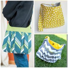 How to Sew a Pleated Shoulder Bag - Free Tutorial + How to Make Box Pleats