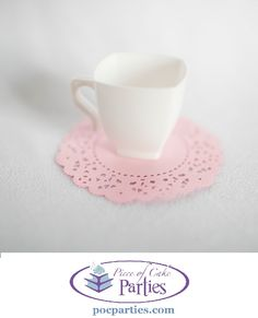 Handmade doily - perfect for tea parties and princess parties!  By Piece of Cake Parties.  Charming.  Effortless. Affordable.