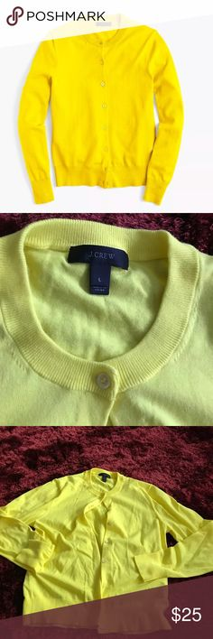 J Crew Yellow Cotton Cardigan Sz Large Great condition. Size Large J. Crew Cardigan. Make an offer! J. Crew Sweaters Cardigans
