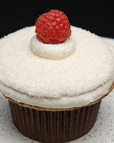 Meyer Lemon Raspberry Cupcakes