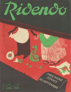 Cover of the French magazine Ridendo (July 1938) by Jacques Touchet.