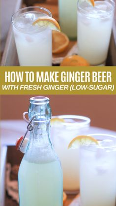 A tutorial on how to make homemade ginger beer (including a video!) This healthy probiotic drink is is great for your digestive system. Ginger Bug, Ginger Drink, Fresh Ginger, Ginger Ale Recipe, Ginger Water, Homemade Ginger Beer, Homemade Wine, How To Make Homemade, Making Ginger Beer