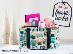 Thirty-One Gifts - Medium Utility Tote. 31 Gifts, Hostess Gifts, Small Gifts, Holiday Gifts, Thirty One Totes, Thirty One Gifts, Teacher Appreciation Gifts, Teacher Gifts, Teacher Treats