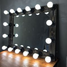 Купить Гримерное зеркало DARK WOOD 70/90 - коричневый, гримерное зеркало, зеркало, зеркало застаренное