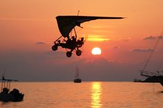 Microlight Flight Holidays in Turkey Prices Cost Cheap Turkey Holidays, Paragliding, Antalya, Fighter Jets, Aviation, Aircraft, Ceiling Lights, Adventure, Sunset