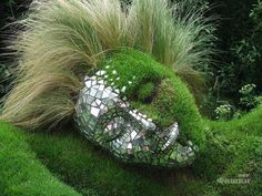 Moss Maid (detail), Lost Gardens of Heligan, Cornwall, SW England