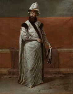 Sadrazam Nevşehirli Damat İbrahim Paşa Jean Baptiste Vanmour (1671-1737) Tuval üzerine yağlıboya, yak. 1727-1730 Rijksmuseum Amsterdam
