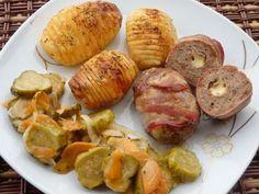 Pieczone roladki z mięsa mielonego