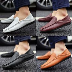Summer new Korean men's casual shoes Peas shoes men England men's casual shoes…