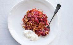 Make a Strawberry Rhubarb Crisp with this recipe.