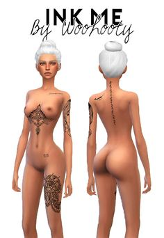 Sims 4 CC's - The Best: Tattoos by woohooty