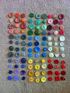 A sample of buttons