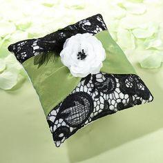 Lillian Rose RP750 Green & Black Ring Pillow