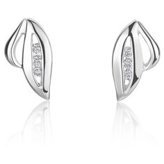 These simple and elegant stud earrings are exquisitely crafted from 14-karat white gold and showcase sparkling diamond accents. A high polish finish completes the look of the earrings with a radiant shine. http://www.overstock.com/10132478/product.html?CID=245307