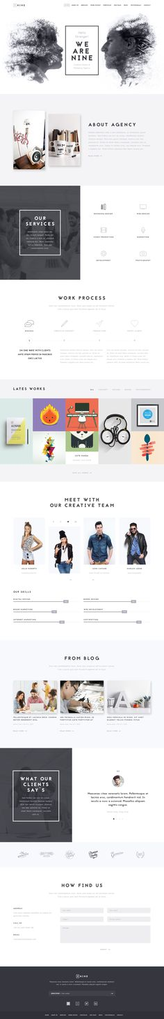 Nine One Page PSD Template
